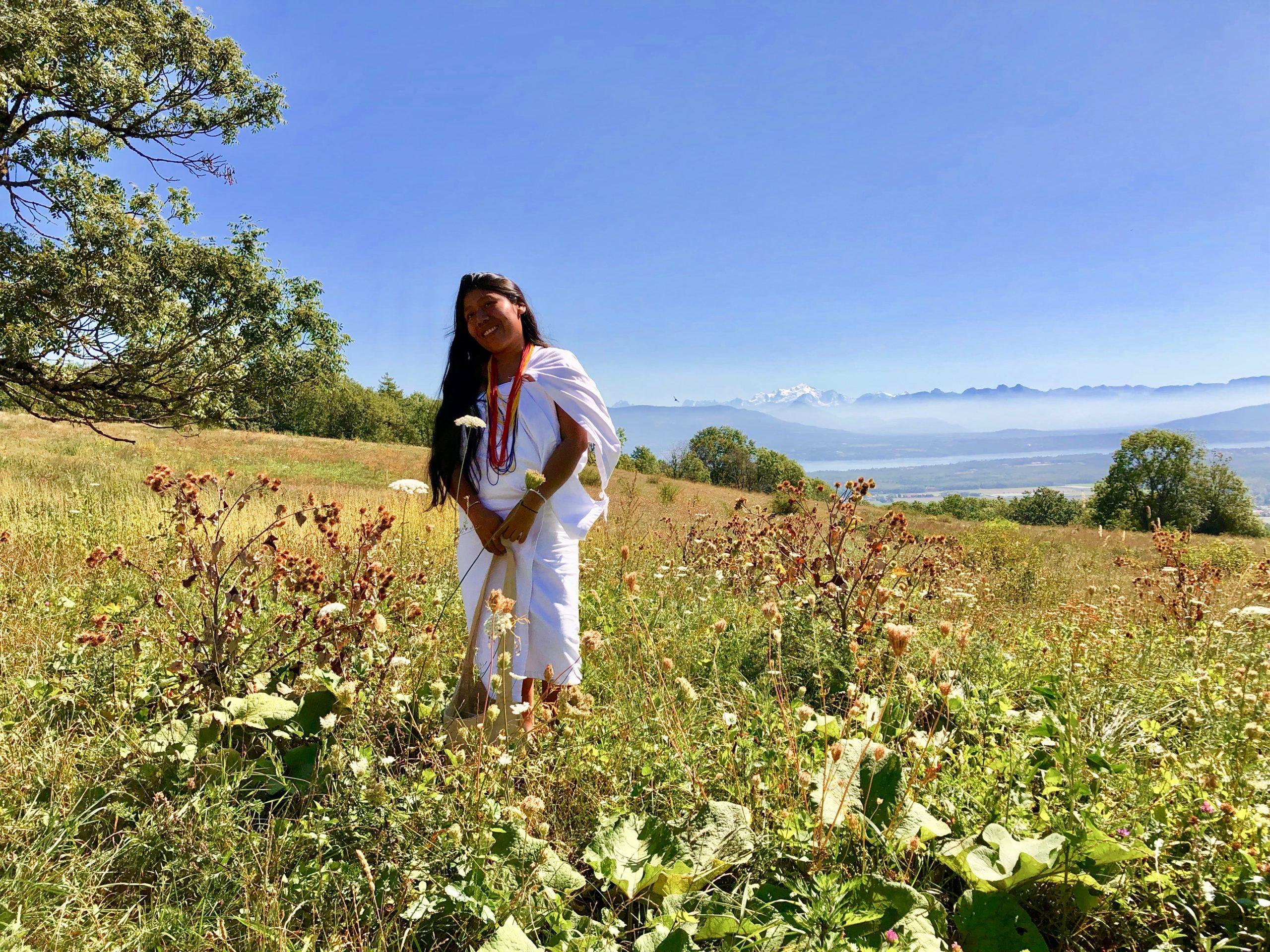Une femme Kogi à Genève